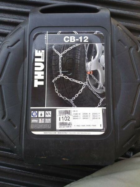 CB 12 Thule Tire Chains Class S 102 One Pair BRAND NEW car truck SUV links $39.99