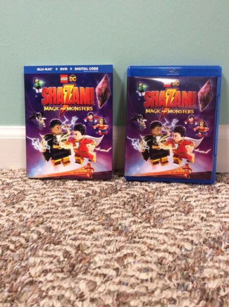 LEGO DC Shazam : Magic and Monsters Blu Ray DVD and slipcover