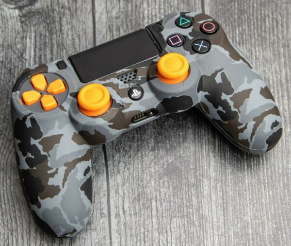 PLAYSTATION 4🔥SOFT SILICONE CONTROLLER GEL GRIP CAMO COVER🔥PS 4 FREE SHIP $7.99