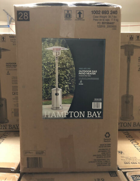 Hampton Bay 48000 BTU Outdoor Heating Propane Patio Heater Fedex Shipping