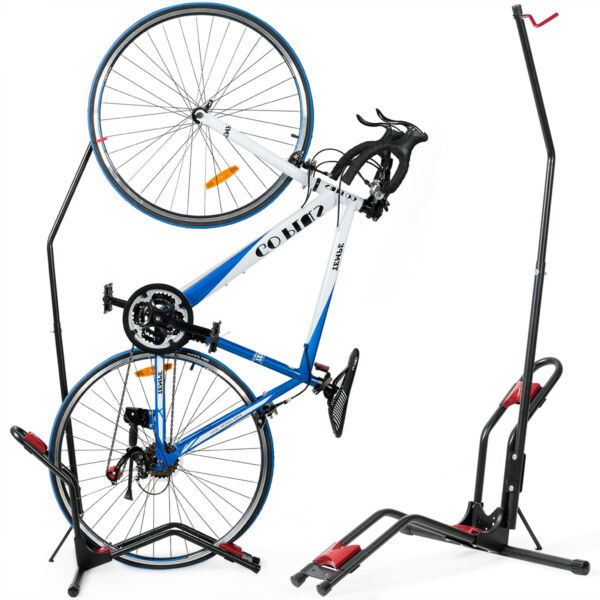 IRONMAX Bike Floor Stand Bike Rack for Vertical Horizontal Indoor Bike Storage $49.49