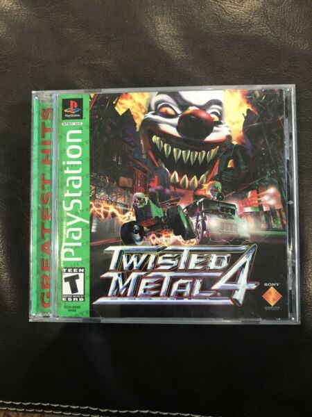 Twisted Metal 4 Complete Free Shipping Sony PS1 PlayStation 1 Greatest Hits