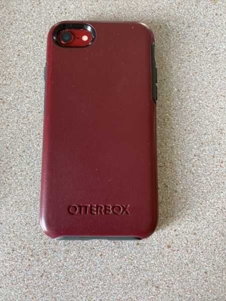 Otter box burgundy for iPhone 7 or 8 USED $12.00