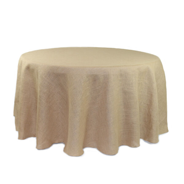 YCC Linens Burlap Tablecloths for Weddings parties and special events