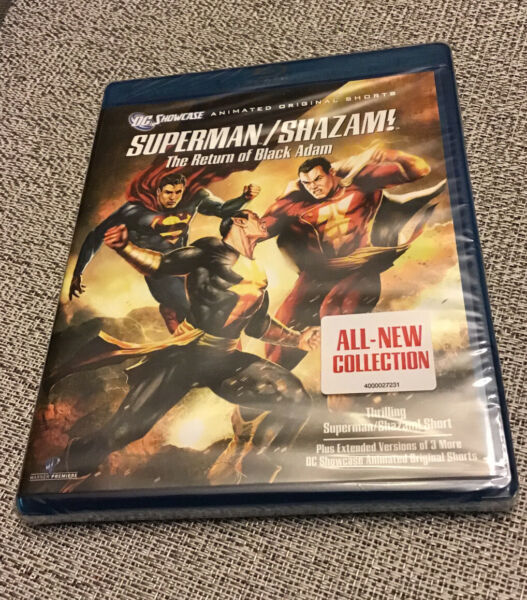 Superman Shazam: The Return of Black Adam Blu ray Disc 2010 DC Comics New OOP