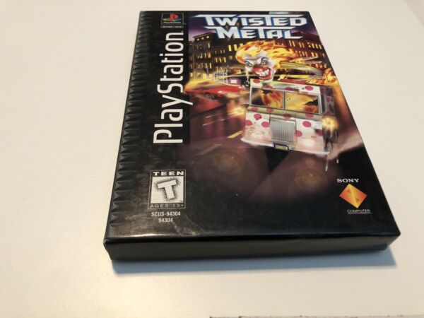 Twisted Metal Sony PlayStation 1 1995 Complete Black Label Longbox