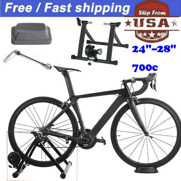 Bike Trainer Stand Magnetic Bicycle Stationary Stand For Indoor Exercise $68.88
