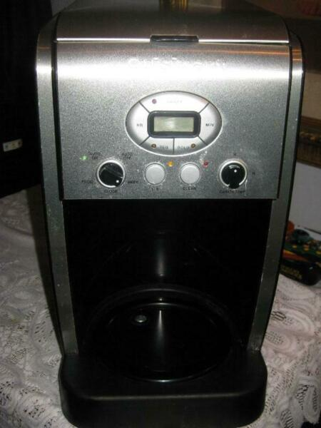 CUISINART 14 Cup Programmable Drip Coffee Maker 5200PC Stainless Steel Black