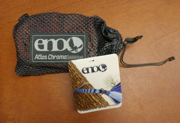 V26 Eagles Nest Outfitters ENO Atlas Chroma Hammock Suspension Straps Red Charc $29.99