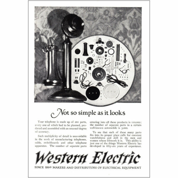 1925 Western Electric: Not So Simple As It Looks Vintage Print Ad $6.25
