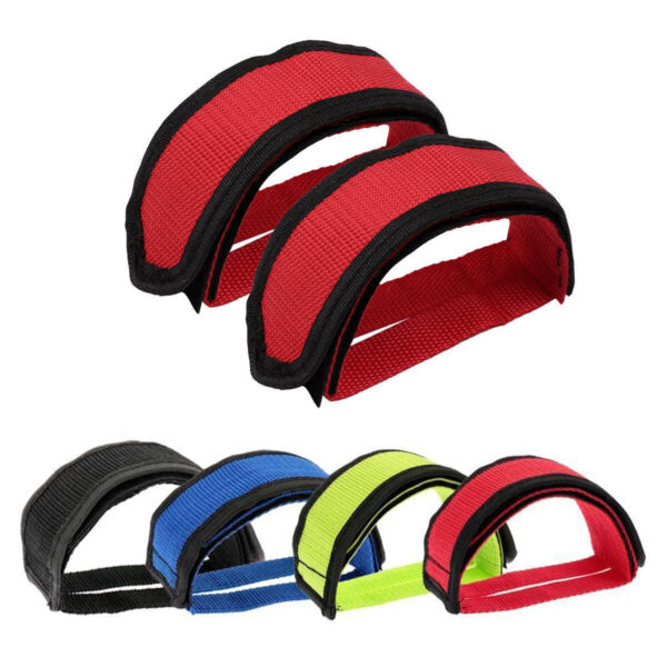 2 PCS Bicycle Pedal Foot Strap Fixed Gear Bike Straps Pedal Toe Clip Belt Tool $9.89
