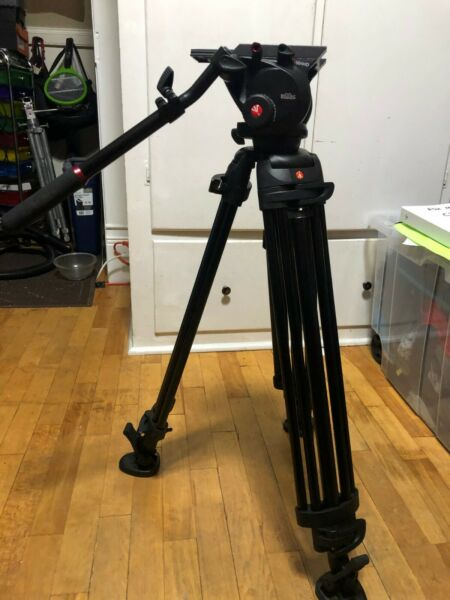 Manfrotto Professional Video 546BK tripod amp; 504HD fluid head kick plate
