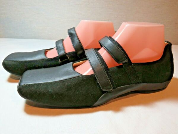 Women#x27;s Tsubo Black Flat Mary Jane Comfort Excellent US Size 9 BOHO Look