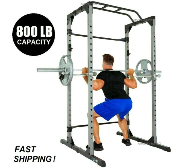 Heavy Duty Power Cage Squat Rack with Pullup Bar 800LB Capacity FAST SHIPPING $448.00