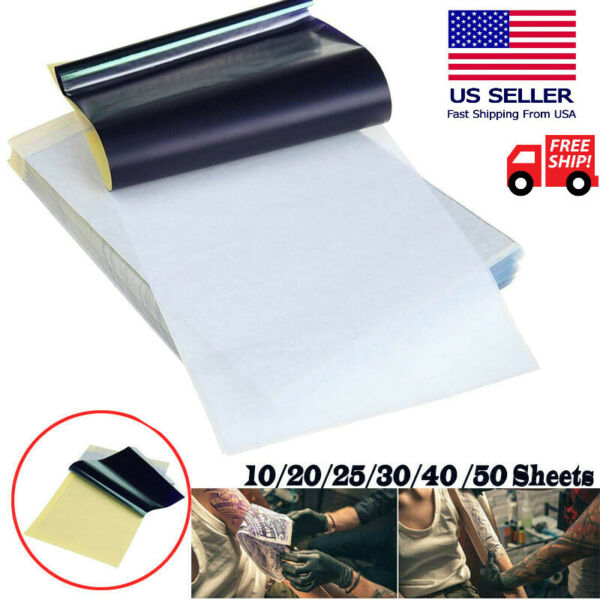 Tattoo Transfer Paper Stencil Carbon Thermal Tracing Hectograph Supplies Sheets