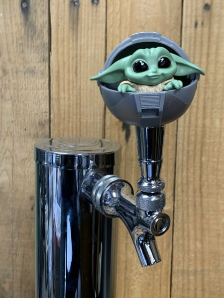 BABY Yoda Tap Handle for Beer Keg mini pull knob The Child Mandalorian Sphere