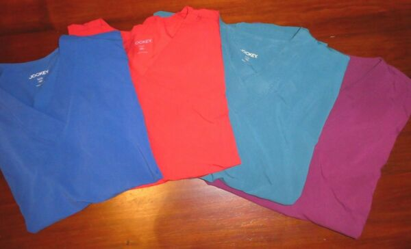 Lot of 4 Classic Fit Collection by Jockey Women#x27;s Mock Wrap Scrub Top 5X $29.95