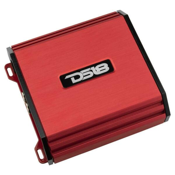 DS18 S1500.4D 1500 Watt 4 Channel Full Range Class D Speaker Sub Amplifier Red
