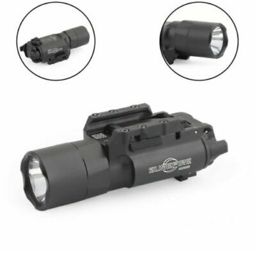 X300U LED Flashlight Weapon Light Mount Fit 20mm Picatinny Rail Rifle Pistol Gun