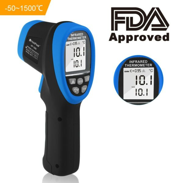 HoldPeak HP 1500 Infrared Thermometer Non Contact Laser IR DS 30:1 Max 1500℃