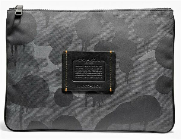 COACH #x27;Wild Beast Camo#x27; Men#x27;s Large Multifunctional Printed Textile Pouch *NWT* $150.00
