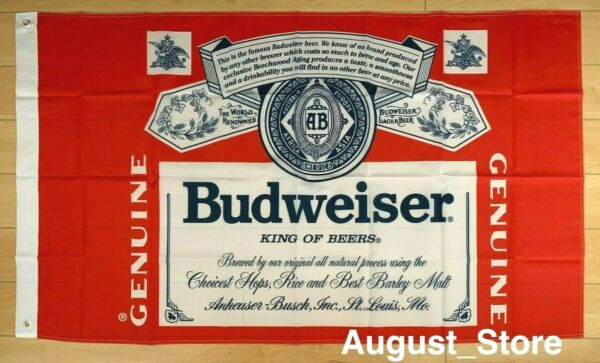 Budweiser Beer Flag 3x5 ft Banner Bud