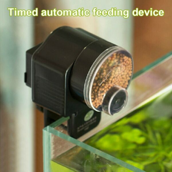 Automatic Aquarium Adjustable Timer Auto Fish Tank Pond Food Feeding v $12.49