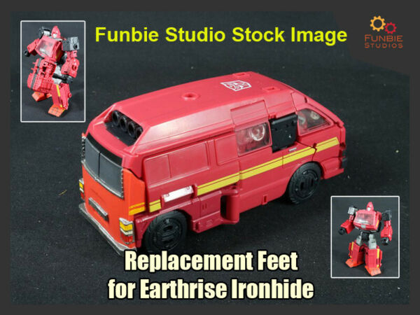 Transformers Earthrise Ironhide Ratchet Feet Upgrade *UPGRADE ONLY