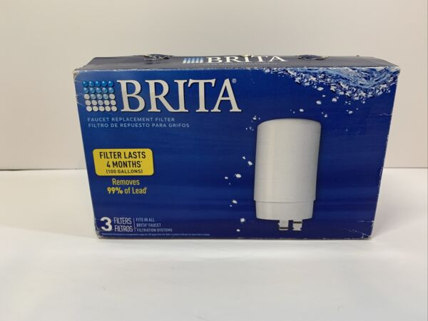 NEW Brita Water Faucet Replacement Filters 3 pack