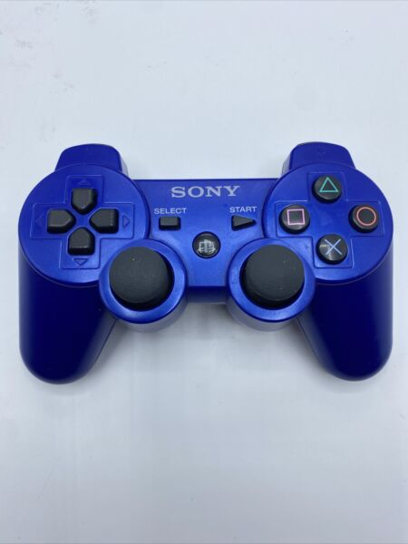 Sony PS3 PLaystation 3 DualShock 3 Sixaxis Blue Controller Authentic OEM $34.99