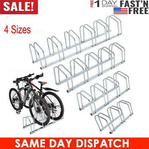 Cycle Bicycle Bike Parking Rack Floor Stand Steel Pipe Storage Wall Mount Holder $39.89
