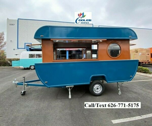 NEW Electric Mobile Food Trailer Enclosed Concession Stand Boat Design 4quot; Hitch $17900.00