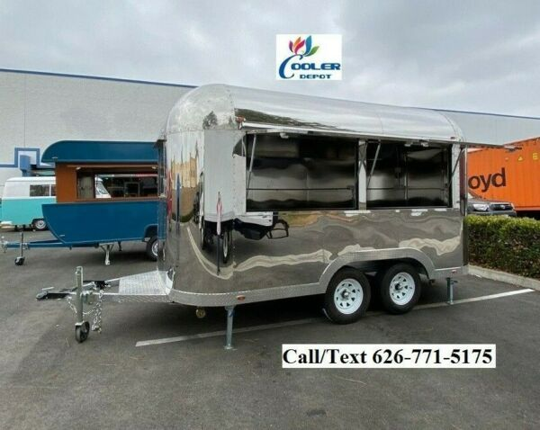 NEW Electric Mobile Food Trailer Enclosed Concession Retro Vintage Style 4 Hitch $21900.00