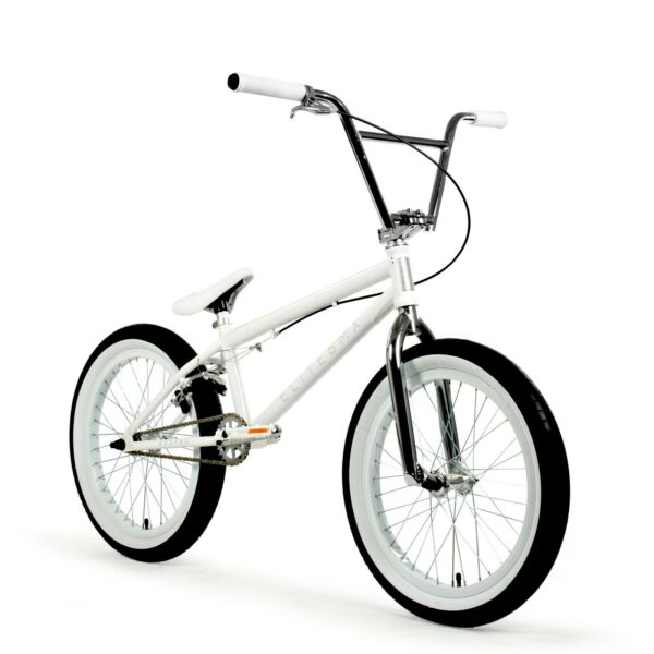 Elite BMX 20quot; Destro Bicycle Freestyle Bike 3 Piece Crank White Chrome 2020 NIB $349.00