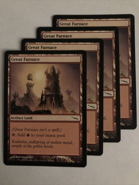 Great Furnace X4 LP Mirrodin MTG Wizards of the Coast Artifact Land Affinity $2.99