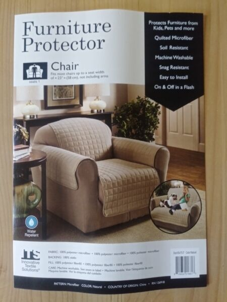 4 brand new  Quilted Chair Furniture Covers convenient and easy $20.00