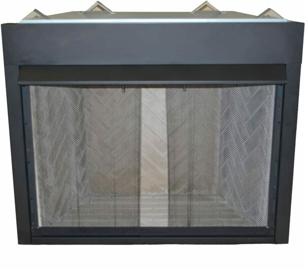 Genuine Sure Heat Fireplace 2 x Mesh Curtains 21quot; x 48quot; wide with pull handles