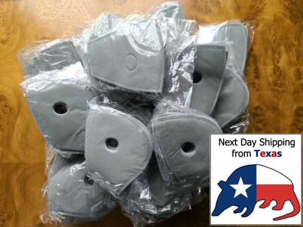 PM2.5 Activated Carbon Filters for Dual Valve Face Mask Cover **SHIPS FROM TX ** $5.99