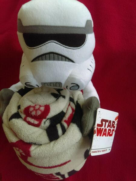 Star Wars Stormtrooper Plush Toy and Blanket Throw NWT $7.99