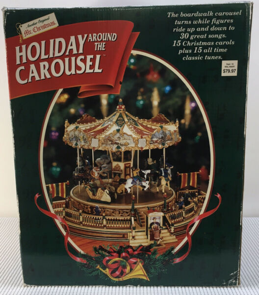1997 Mr Christmas Holiday Around the Carousel Musical 30 Songs Animated #27901