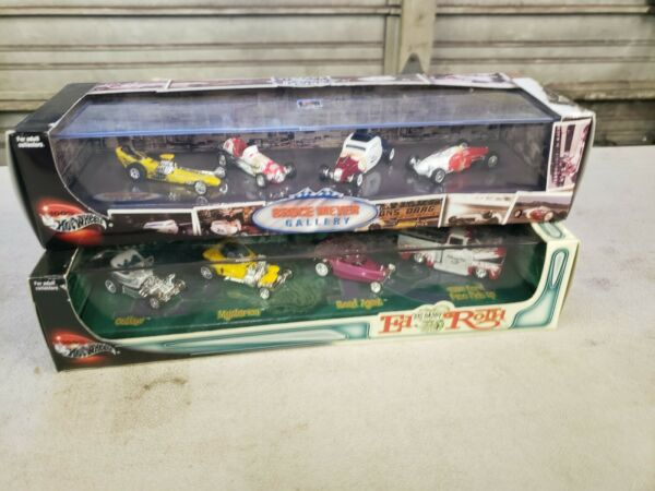 Hot Wheels Ed Big Daddy Roth 4 Car Set and Bruce Meyers Gallery Vintage Racing $125.00