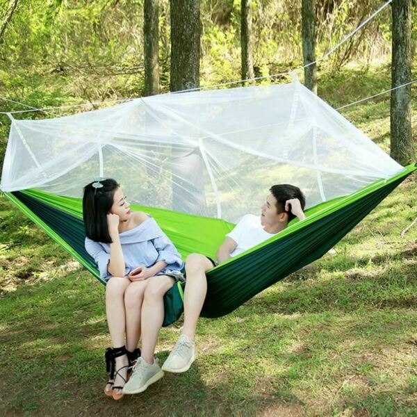 1 Pc Ultralight Hammock Go Swing Mosquito Net Double Person Sleeping Bed Outdoor $60.05