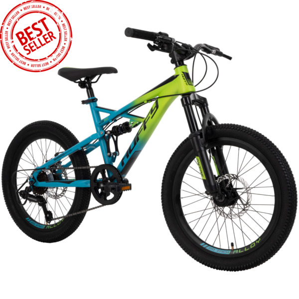 Huffy 20 inch Oxide Boys Mountain Bike for Kids Lime Blue $190.95