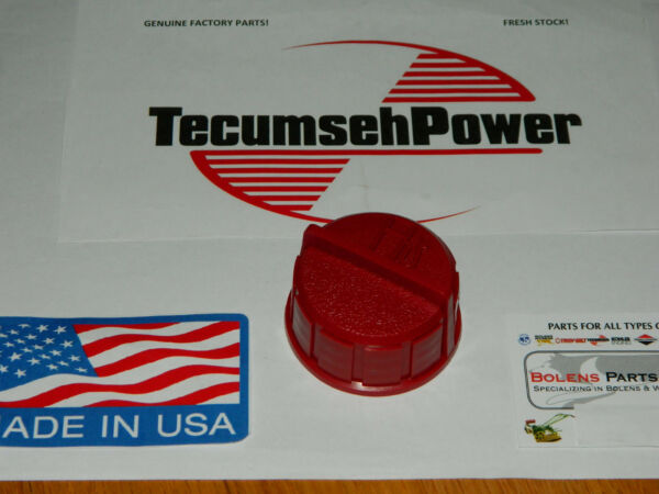 Tecumseh 37845 fuel gas cap fits Ariens amp; Craftsman snow blowers RED GENUINE