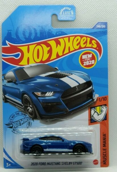 2020 Hot Wheels Blue 2020 Ford Mustang Shelby GT500 Q Case #248 $2.39