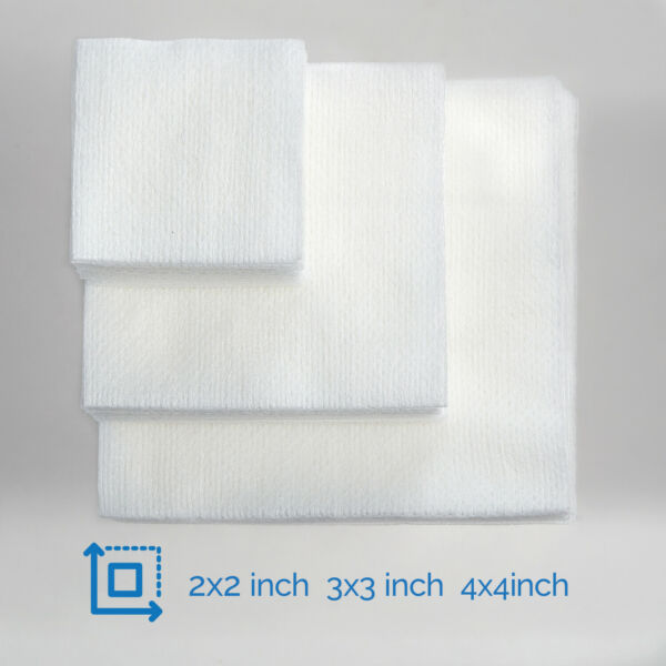 200PCS Disposable Medical Non woven Sponges 4ply First Aid Gauze Pad