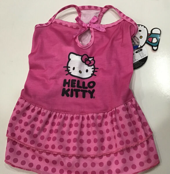 Hello Kitty DOG or CAT Dress Pink W Ruffles New with Tags Size S Free Shipping $7.75