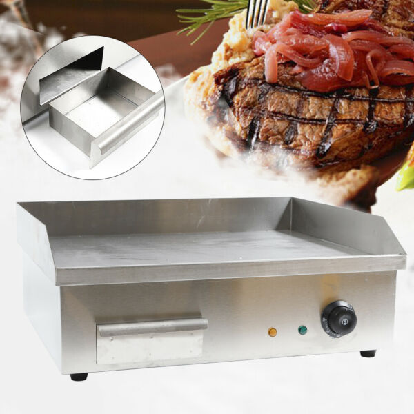 Electric Countertop Griddle Commercial Tabletop Flat Top Grill Machine 3000W