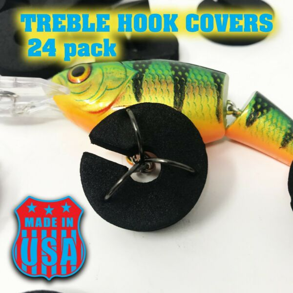 Treble Hook Cover Protector 24 pack Made In USA $7.00