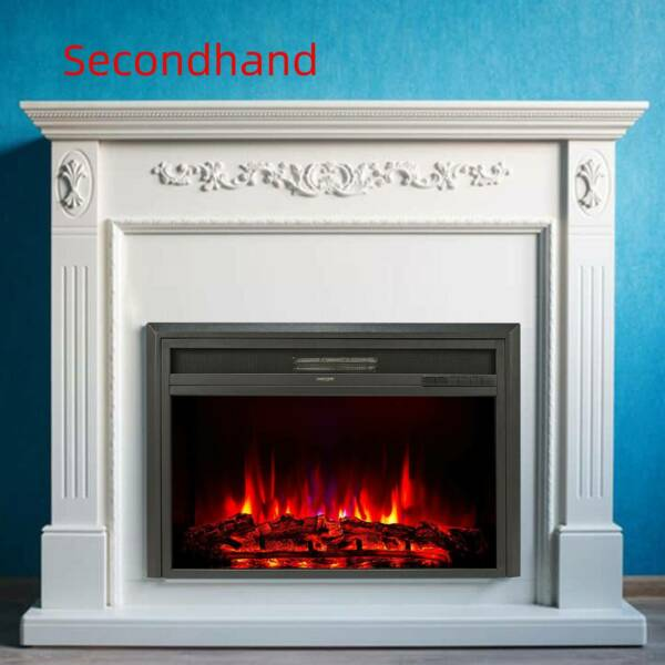 Secondhand 32quot; 1500W Recessed Electric Heater Fireplace Insert w Remote Control